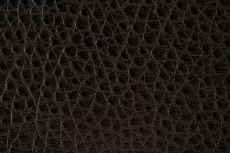 Een zeer scherp en gedetailleerd zwart lederen textuur