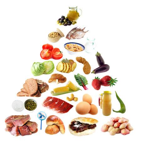 piramide alimenticia: Pir�mide de Alimentos Foto de archivo