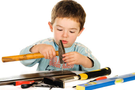 Boy with tools photo