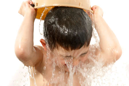 Sweet Boy Taking a Bath Stock Photo - 9050213