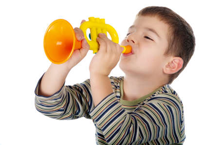 boy with trumpet photo