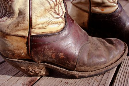 Muddy Cowboy Boots Stock Photo - 400908