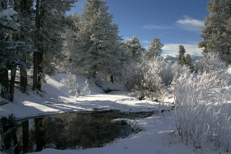 Idaho Winter Stock Photo