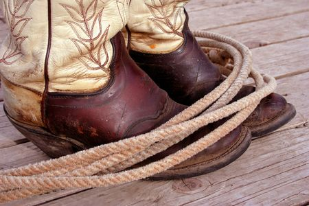 Boots And Lasso Stock Photo - 400885