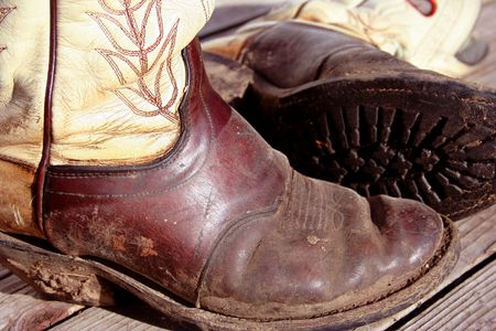 Muddy Cowboy Boots Stock Photo - 420330