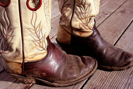 Muddy Cowboy Boots Stock Photo - 420259