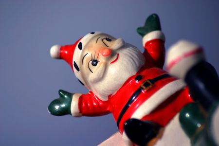 Antique Santa Stock Photo