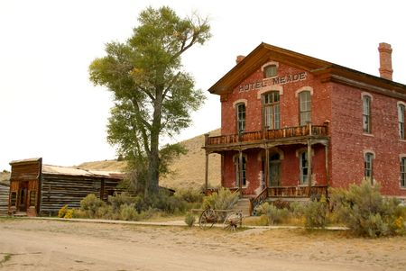 meade: Hotel Meade, Bannack Montana Stock Photo