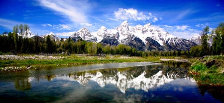 Teton Range Wyoming Stock Photo