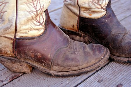 Muddy Cowboy Boots Stock Photo - 437152