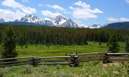 fenceline: Sawtooth Range, Idaho