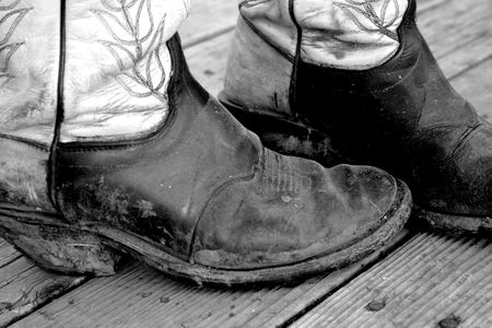 Muddy Cowboy Boots Stock Photo - 448518