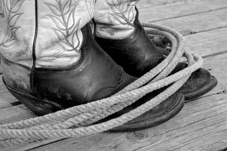 Rope And Boots Stock Photo - 451174