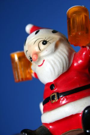 Antique ceramic Santa, Christmas