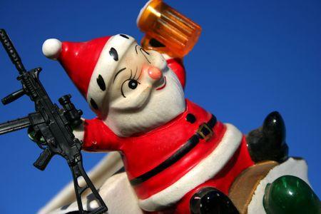 Antique ceramic Santa, Christmas photo