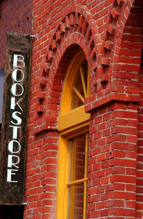 Bookstore in an old brick building downtown