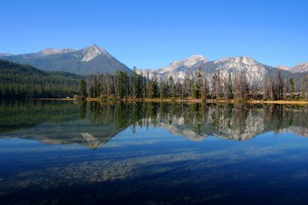 Located in the Sawtooth Mountain Range, Idaho Stock Photo