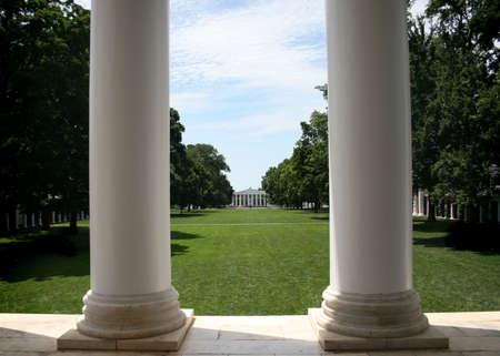 rotunda: UVA the Lawn