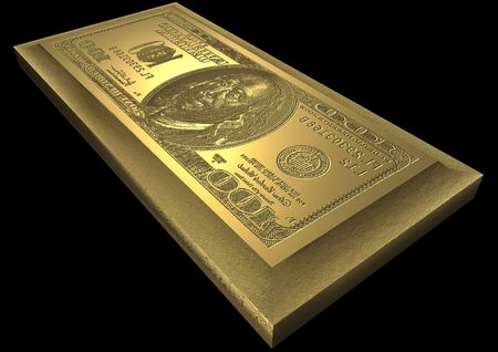 blabbing: dollar printing plate Stock Photo