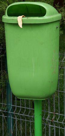spoilage: Dust bin. Dust bin with banana tongue. Stock Photo