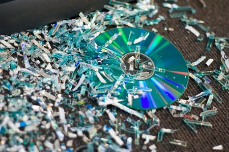 pirated: Pirated cd destroyed