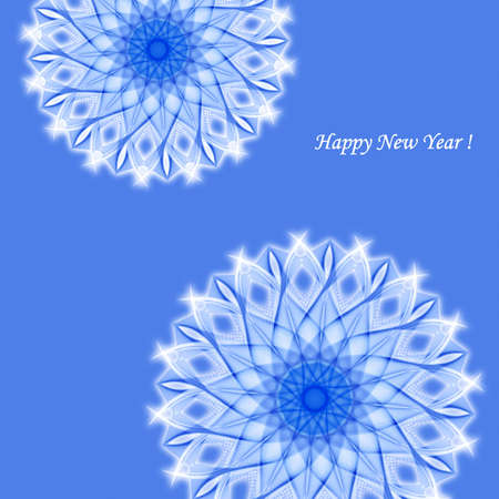 snowflake blue picture Stock Photo