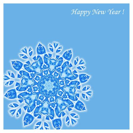 Snowflake blue card