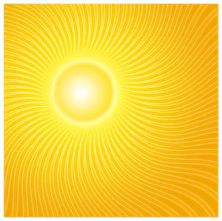 Sun rayz with orange colors Stock Photo