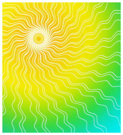 Sun rayz with gradient colors