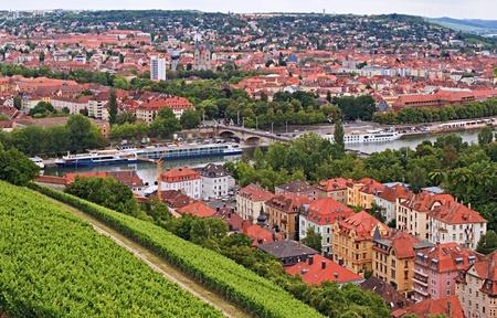 View on Wuerzburg from Marienberg fortress, Germany Stock Photo - 15201006