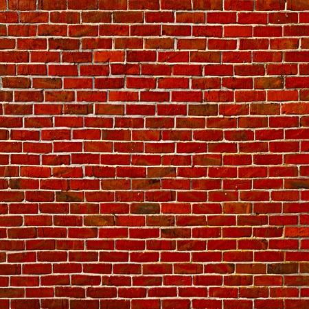 Square brick wall