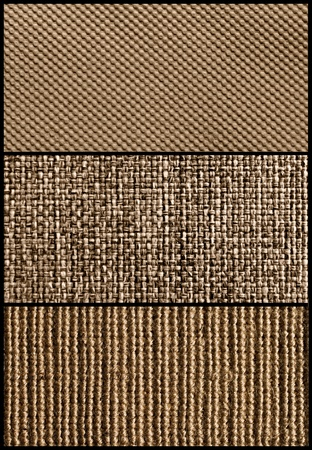 Three pieces of fabric