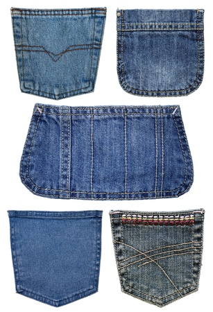 Five pockets of jeans