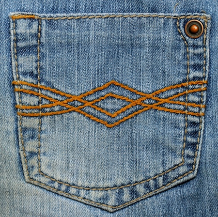 back cloth: Pocket of jeans  Stock Photo