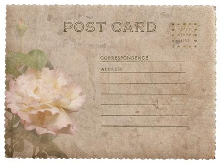 Greeting card with rose  English language