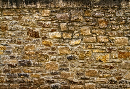 Old stone wall in wurzburg