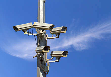 Five outside security cameras  CCTV