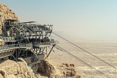 Rope way to Masada photo