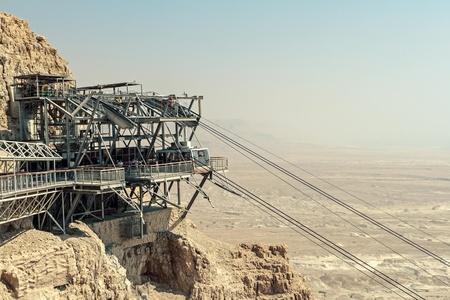 Rope way to Masada