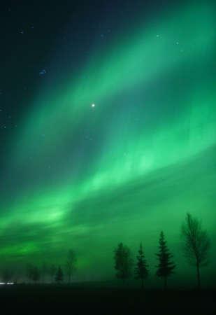 phenomena: Aurora arc overhead