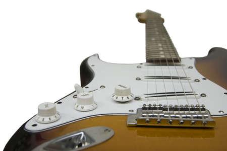tremolo: Blade humbucker electric guitar, focused on bridge pickup and volume knob