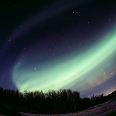 auroral: Strong auroral display - the arc Stock Photo