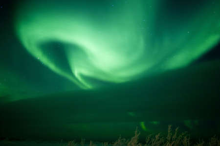 ionosphere: Aurora band Stock Photo