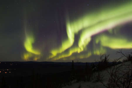 Multiple colors and bands of aurora borealis Stock Photo - 635725