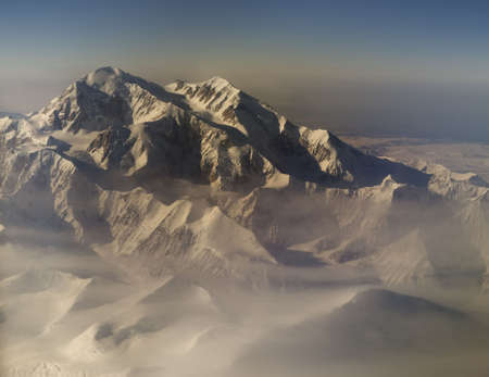 mckinley: Aerial composite of Mt Denaly (McKinley). 6 images used.