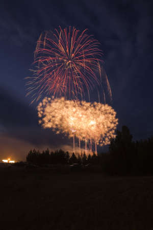 little town: Local fireworks in little town