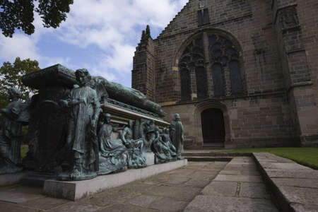 archbishop: Tomb and monument of Archbishop in Kings College in Aberdeen, UK Stock Photo