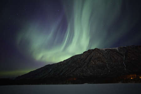 Show of northern lights near Anchorage AK, USA photo