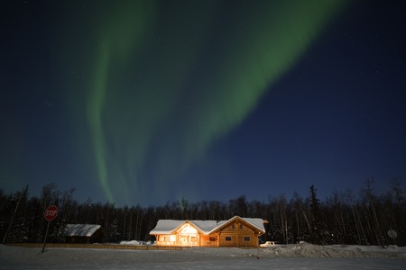 Aurora Borealis display over southcentral Alaska, March 2012 photo
