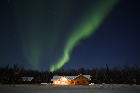 Northern Lights in March 2012, Alaska Stock Photo - 12856901